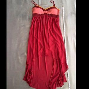 Chord Dresses - Sleeveless High Low Dress